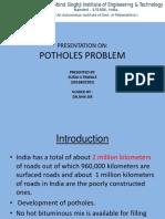 Potholes Problem in INDIA