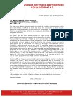 Carta al Lic. Andrés Manuel López Obrador