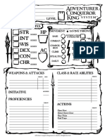 Interactive ACK Character Sheet by Rocco Aka BAMF