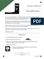 Survey Teen Health