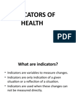 3.2 Indicators of Health