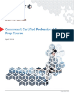 Commvault Professional Exam Prep 160425