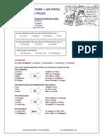 Les prépositions pays Villes (A2)