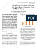 Analysis of Increasing Productivity of the Production Process through the Misroll Losses Elimination Using DMIC Six Sigma