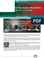 Current Geo-Strategic Dynamics Perspective From Iran