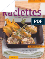 Raclettes - recettes inedites