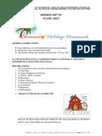 Class 12S Holiday Homework