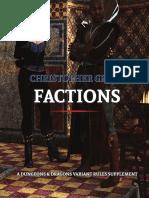 Christopher Greys Dnd5e Factions