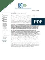 HSC Charter Revision Commission Letter