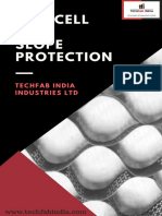 Techcell for slope protection