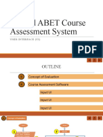 MANUAL ABET Course Assesment System