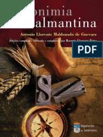 Toponimia Salmantina (Llorente)