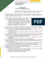 Lista de exercicios para a disciplina de Comunicação óptica.