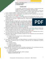 Lista de exercicios da disciplina de Comunicação óptica.