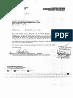 Decreto de remoción del cargo de gerente del Cari a Rocío Gamarra