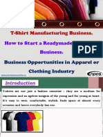 T-Shirt Manufacturing Business