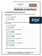 1. Private Methods in Interfaces