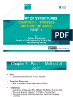 Chapter 4 Part 1 – Truss Method of Joints