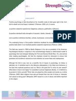 Positive Psychologie Aufruf 2000