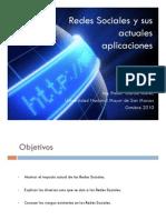 Redes Sociales y Sus Actuales Aplicaciones 141010