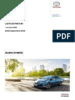 Preturi Toyota Auris HSD Web 2018 Septembrie Tcm-3040-182266