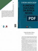 A Unidade Cultural Da África Negra