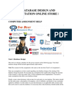 Csg1207 Database Design and Implementation Online Store
