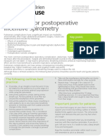 Guidelines for Postoperative Incentive Spirometry