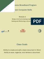 Basic Computer Skills - Module 4