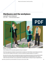 marijuana and the workplace   canadian lawyer mag