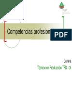 Catalogo de competencia profesionales