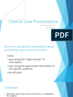 Clinical Case Presentations CARE II