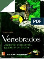 Vertebrados Anatomia Comparada Funcion y Evolucion