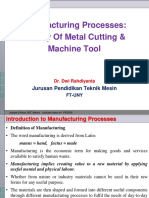 Teori Pemesinan Dasar- Theory of Metal Cutting & Machine Tool