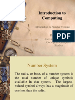 Lec 02 - Introduction to Number Systems