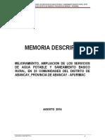 Memoria Descriptiva Abancay1