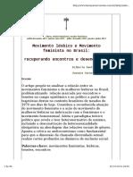 Movimento Lesbico e Movimento Feminista No Brasil Recuperando Encontros e Desencontros 1