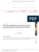 Non Contact RADAR Level Transmitter Principle, Limitations, Design, Installation and Calibration Instrumentation Tools