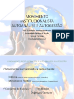 1 Movimento Institucionalista Autoan Lise e Autogest o