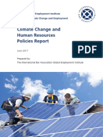 Climate Change and Human Resources Policies IBAGEI Report June 2017