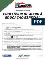 Professor de Apoio à Educação Especial