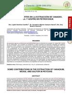 Aportes de la extracción de Vanadio en el coque