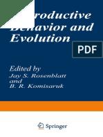 (Evolution, Development, And Organization of Behavior 1) Ernst Mayr (Auth.), Jay S. Rosenblatt, B. R. Komisaruk (Eds.) - Reproductive Behavior and Evolution-Springer US (1977)