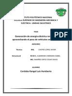 Generación de Energía Eléctrica Renovable Aprovechando El Peso de Vehículos en Tránsito.(1)