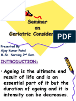 Geriatric Consideration