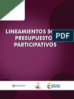 Lineamientos sobre presupuesto participativo - Colombia