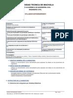 Syllabus de Expresión Oral y Escrita