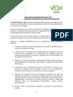 Acuerdo de PP y Vox en Andalucia