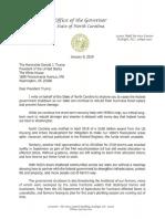 President Trump Shutdown Letter
