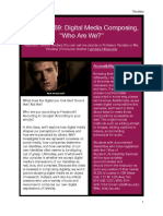 """SP19 Digital Media Composing """"Who Are We?"""""""